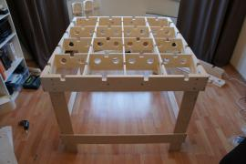 Honeycomb table for builders