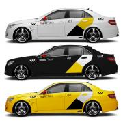 Magnetic stickers Yandex Taxi