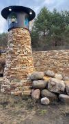 Природный дикий камень песчаник, известняк, доломит, базальт