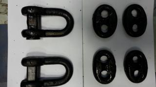 Скоба прямая (резьба), Скоба фигурная, Коуши для стальных канато